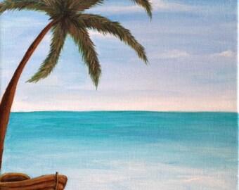BEACH PAINTING,custom painting,original art