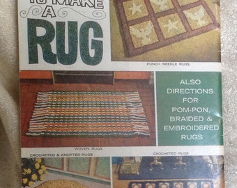 Very Vintage How To Booklet For Making Rugs