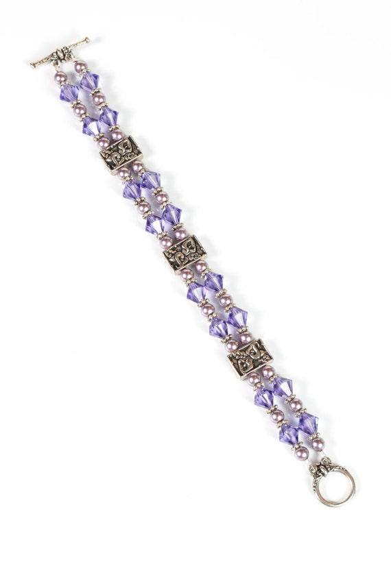 Swarovski crystal tanzanite purplebracelet Swarovski