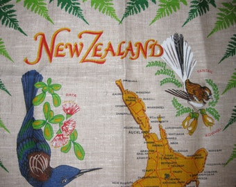 New Zealand Birds Souvenir Tea Towel