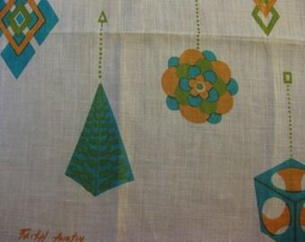 Faith Austin Vintage Handkerchief in Stunning Mid Mod Colors