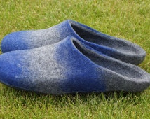 Felted slippers for men. Handmade house shoes. Men felt slippers. Felt shoes.