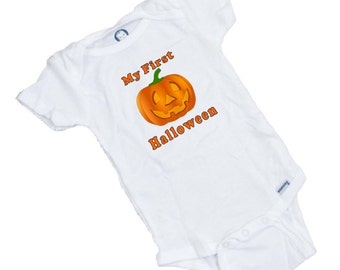 My First Halloween Onesie or Tee Shirt. Makes a great Shower Gift