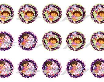 Dora the Explorer Bottle cap (1 inch) Images