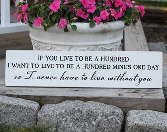 If You Live To Be a Hundred Winnie the Pooh Wood sign / If You Live To Be 100 Sign