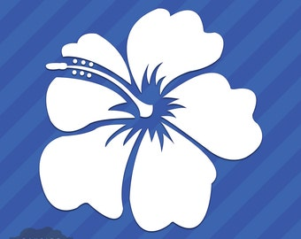 Hibiscus Flower Vinyl Decal Sticker Hawaii Hawaiian Islands