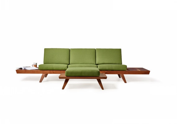 Modern Walnut Couch from Wake the Tree