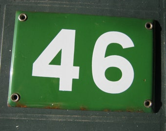 A Genuine French Vintage Enamel House Number Plate/Plaque