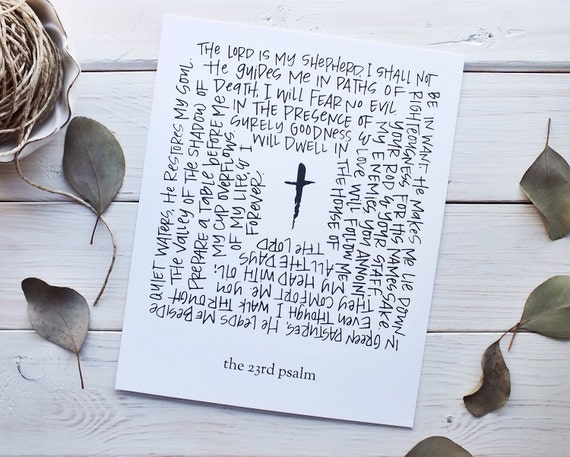 Dynamite image pertaining to printable 23rd psalm