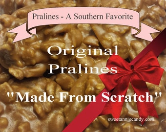 praline homemade pecan candy pralines gift basket candy table party favor vanilla teacher appreciation wedding birthday  anniversary