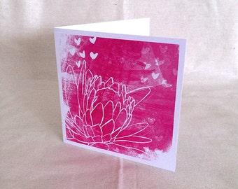 Greeting Card Protea Print Card