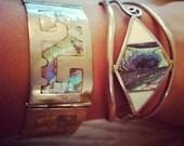 Bohemian abalone bracelets.  For Mel