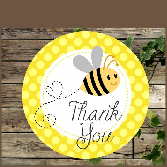 Bee Baby Shower Favor Tags Printable Yellow Bumble Thank You Tag Instant Download Cupcake Topper From IsiDesigns