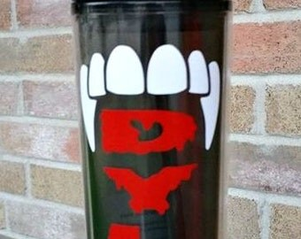 Vampire Teeth Tall Tumbler