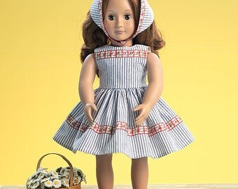 """18"""" Retro Doll Clothes McCall's Pattern M7266"""