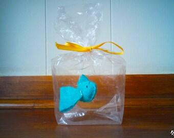 Little Teal fish - The Ultimate Pet, Fish in a bag, vegan.