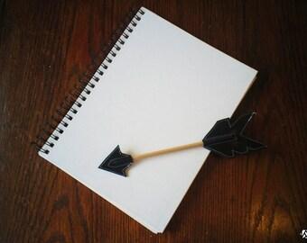 Black LeatherArrow Pencil Topper