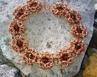 Copper chainmaille therapeutic bracelet