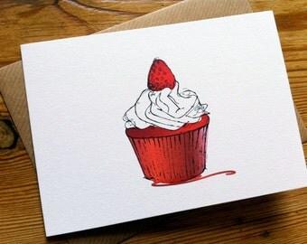 RED VELVET CUPCAKE Card