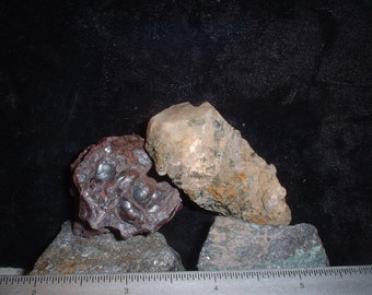 "GeoDuo! Hematite ""Kidney Ore"" & a Scapolite crystal"