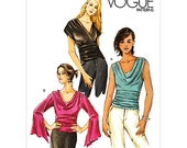 OUT of PRINT Vogue Pattern V8034 Misses' Tops