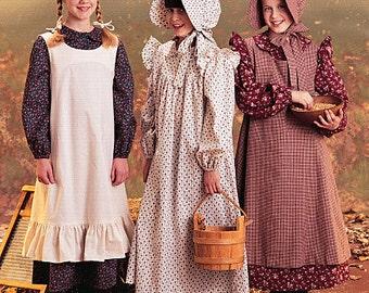 McCall's Pattern M7231 Girls' Pioneer Costumes