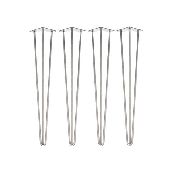 4 x STAINLESS STEEL Hairpin Legs - All Sizes