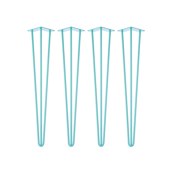 4 x BLUE Hairpin Legs - All Sizes