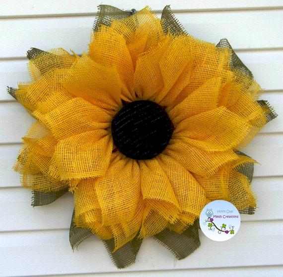 Sunflower Wreath Paper Mesh Fall Paper Mesh