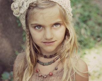 Fairy hemp headband for children by GayatriTribalCrafts
