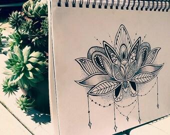 Ornamental Lotus Flower