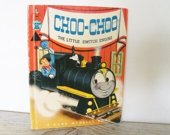 Choo-Choo The Little Switch Engine Vintage Tip Top Elf Book Rand McNally Wallace Wadsworth Mary Jane Chase 8621 1954