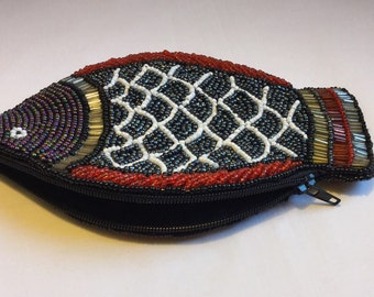 Beaded Fish Women's Wallet