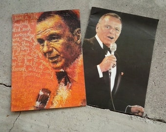 Two Frank Sinatra concert program guides 76' 1978