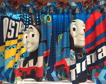 "Thomas the Tank Engine Faster Valance ~ Extra Wide ~ 60"" Wide x 20"" Long"