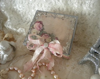Vintage Paris / Shabby Chic Decorative Box