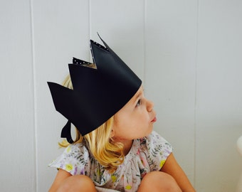Chalkboard Crown - Kids Crown - Reversible Crown - Birthday Party Hat - crown toy - toys for kids - birthday crown - milestones baby