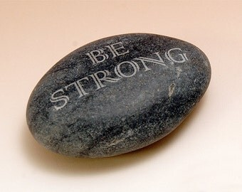 Large River Rock with Motivational Message