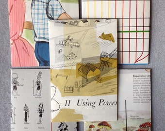 5 envelopes each with 2 note-cards handcrafted from vintage ephemera