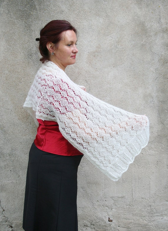 Knitting Patterns For Shrugs And Shawls : Lace shawl. Knitted lace shrug. Lace pattern by SoSoftBoutique