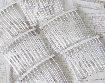 Silver comb / fascinator comb / Metal Comb / CB-4 Silver