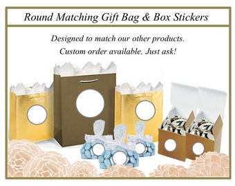 Custom Party Favor Stickers -  Custom Goody Bag Stickers - Custom Favor Box Stickers - Personalized Stickers - Personalized  Party Stickers
