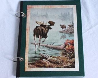 Moose Journal /  Alaska Journal / Maine Journal / Refillable Journal / Refillable Sketchbook / Blank Notebook