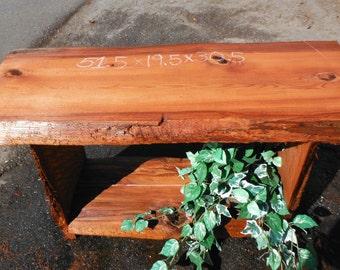Redwood entry hall table, sofa table, buffet table