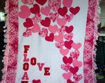 Floating Valentine Hearts