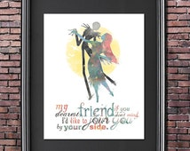 Jack and Sally Nightmare Before Christmas 8x10 Poster - DIGITAL DOWNLOAD / Instant Download