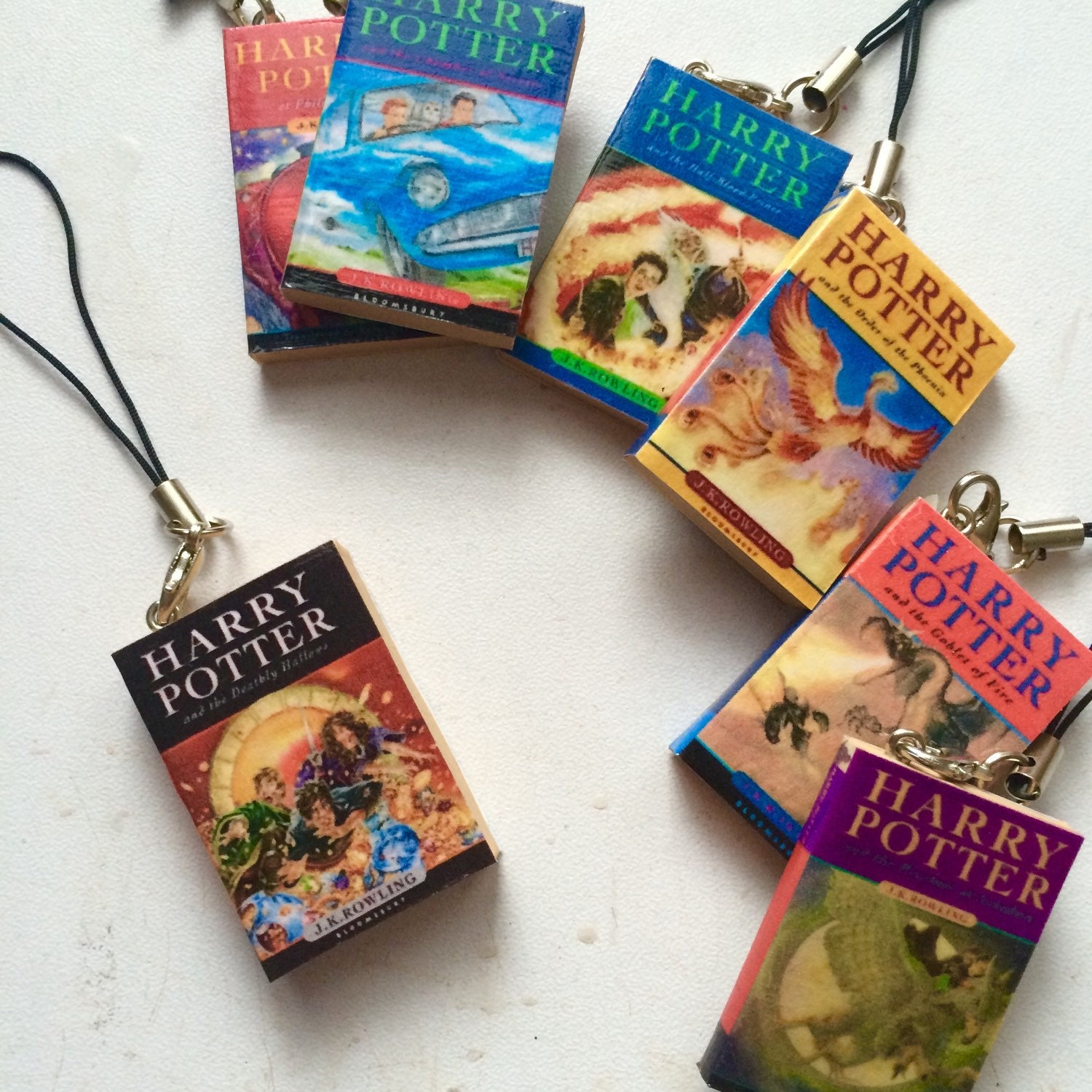 Harry Potter Book Keychain ~ Harry potter book charm keychains