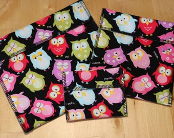 Owls, Sandwich Bag, Snack Bag, Eco-Friendly, Green, Re-Use, Lunch,      FREE SHIPPING