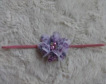 Vintage Chic Purple Floral Infant Headband