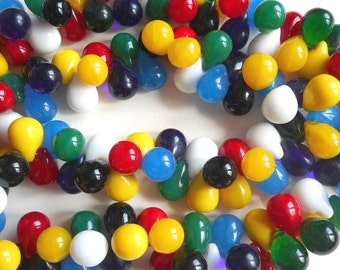 Technocolor African Wedding Beads. Teardrop shapes, primary colors, vintage